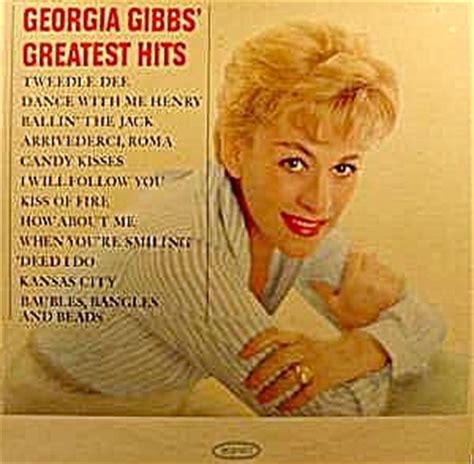 georgia gibbs greatest hits lp record ln