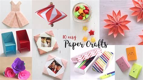 easy paper crafts compilation diy craft ideas art