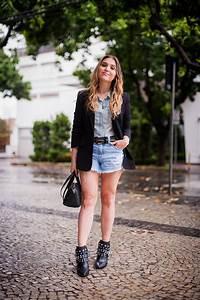 Look da Lu blazer preto e jeans - Lu Ferreira | Chata de Galocha!