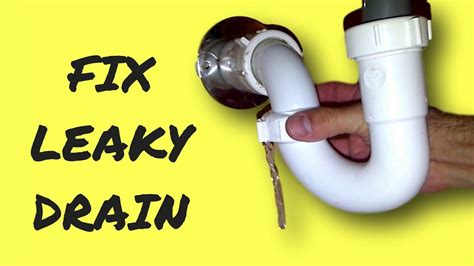 how to fix leaking pipe under sink repair leaky sink drain pipe youtube