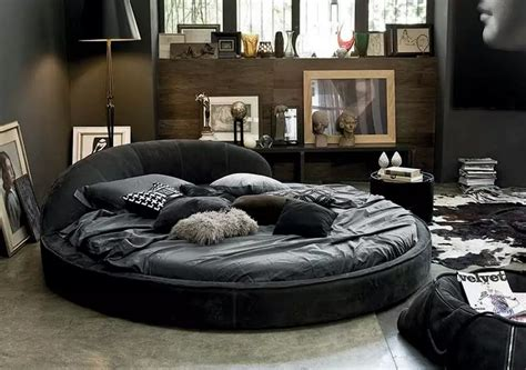 circle bed in unique bedroom interior design small design ideas
