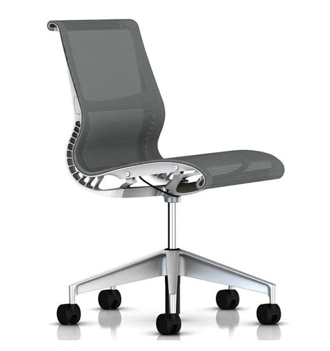 herman miller setu chair no arms alpine white office