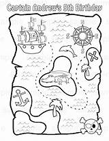 Coloring Treasure Pirate Map Pages Popular sketch template