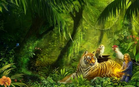 Digital Tiger Wallpaper by Digital 171 Best Wallpapers 4 You