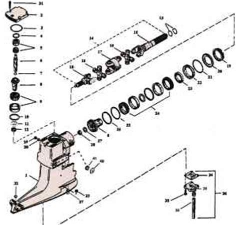 Mercruiser Lower Unit Diagram by 1987 Mercruiser 5 7 Outdrive Diagram