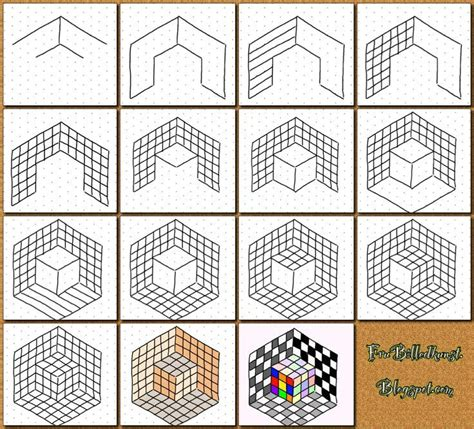draw optical illusions templates how to draw cube illusion using isometric grid isometric