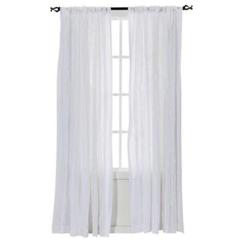 White Ruffle Curtains Target by Target Simply Shabby Chic 174 Vertical Ruffle Window Panel