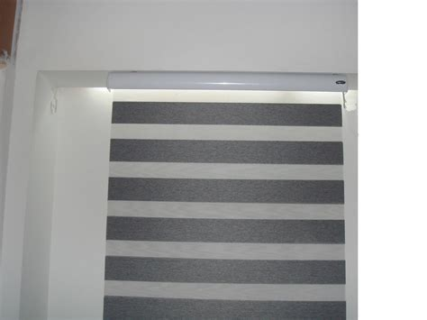 China Grey Window Patterned Roller Blind, Horizontal