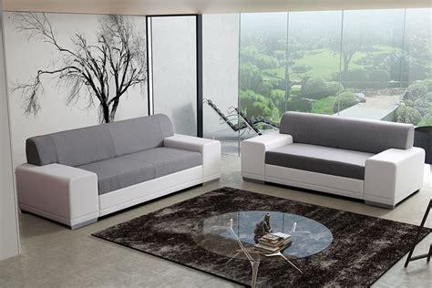 Set Sofa Modern Modern Grey Fabric Sofa Set 44l5947 Thesofa