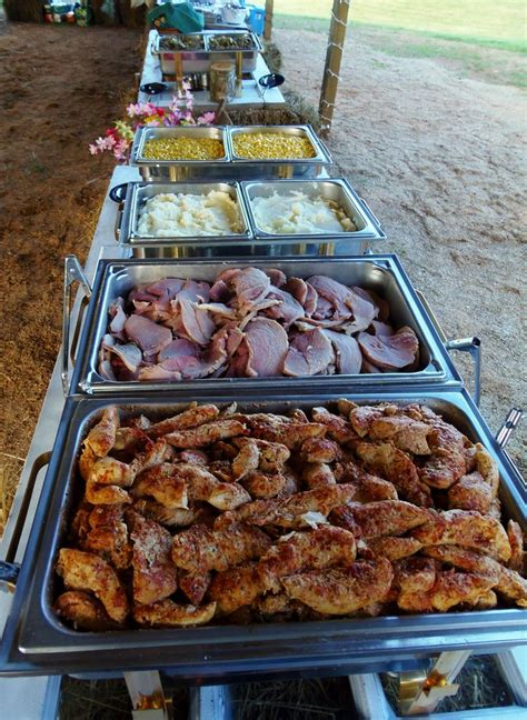 Buffet For A Country Wedding Under And Open Barn Herb