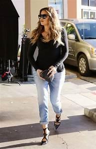 Khloe Kardashian in Boyfriend Jeans - Denimology