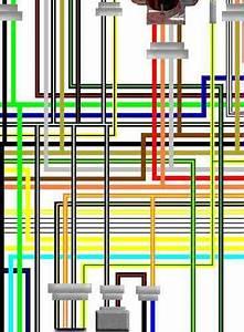 Suzuki Rf600 Large Colour Electrical Wiring Loom Diagrams