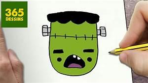 Dessin D Halloween Facile : comment dessiner frankenstein kawaii tape par tape ~ Dallasstarsshop.com Idées de Décoration