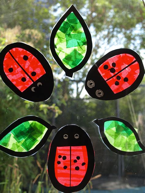 ladybug suncatchers fun family crafts