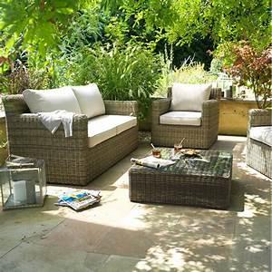 le mobilier en rotin revient en force dans la maison et le With canape de jardin castorama