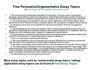 Good Debatable Essay Topics Essay Advertising Pros Cons Good Argue  Best Persuasive Essay Topics