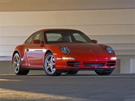 2007 Red Porsche 911 Carrera 4 Wallpapers