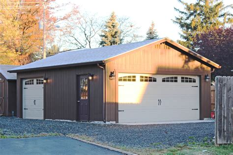 one car garage buy an economy single car garage in wood or vinyl amish