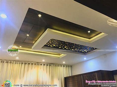 furnished master bedroom interior kerala home design  floor plans  houses