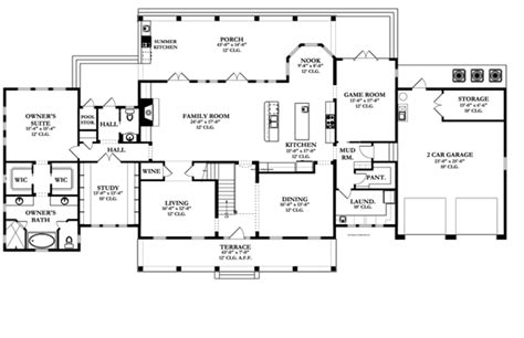 Colonial Floor Plans by Colonial Style House Plan 5 Beds 3 5 Baths 4457 Sq Ft