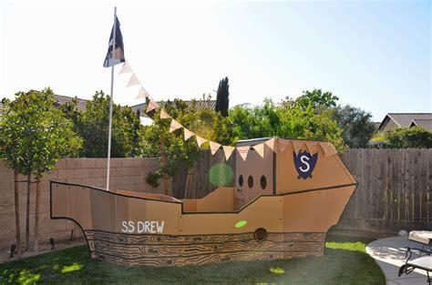 Pirate Ship Cardboard Boat by Cardboard Pirate Ship Craftbnb