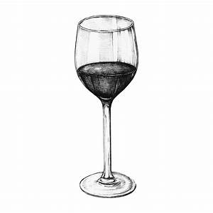 Hand drawn red wine glass - Download Free Vector Art ...