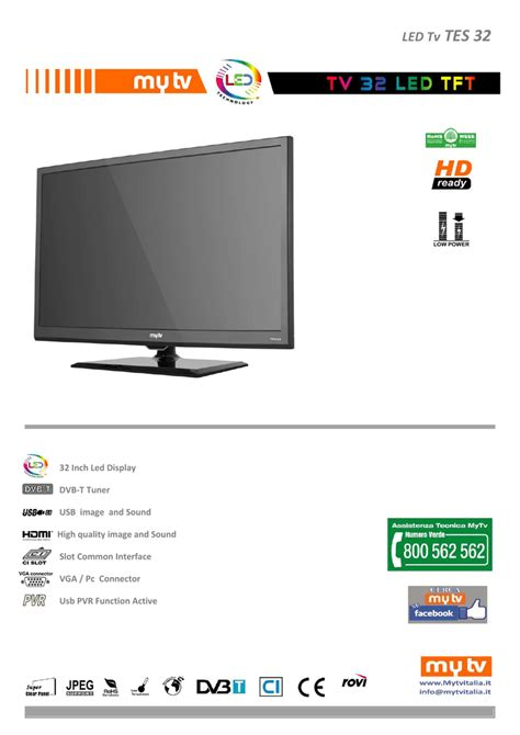 MyTV TES32 LED TV Manualzz