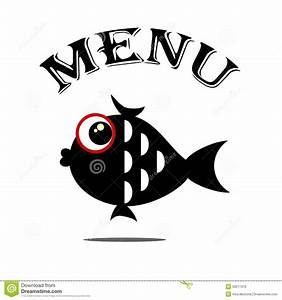 Menu With Fish. Stock Vector - Image: 50217310