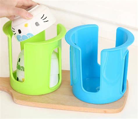 pcsset plastic plate bowl organizer holder dish rack draining tableware storage holder bowl