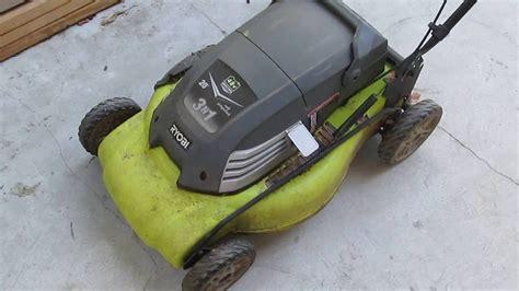 teardown ryobi  cordless  propelled lawn mower