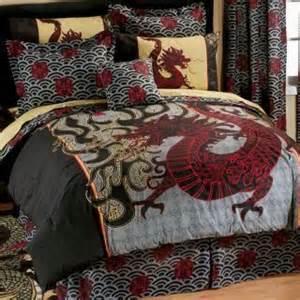 new asian oriental dragon land comforter sheet set queen size bed 8