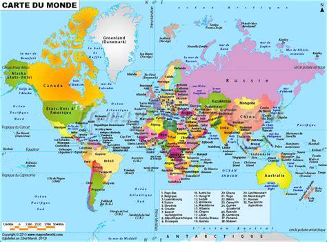 Carte Du Monde Avec Capitales Pdf by Carte Du Monde Avec Pays Et Capitales A Imprimer