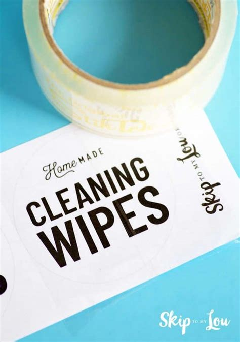 Homemade Cleaning Wipes with Free Labels | Skip To My Lou