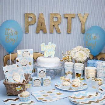 decoration fete anniversaire baby shower bleu   blue