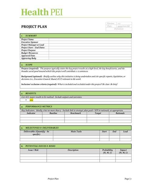 Project Charter Template Project Charter Template Free Documents For Pdf