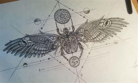 Scarab Tattoo Design Under Chest  Tatts Pinterest