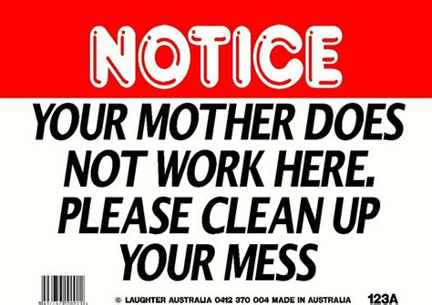Kitchen Clean Up Signs by Humorous Quotes To Clean Kitchens Quotesgram