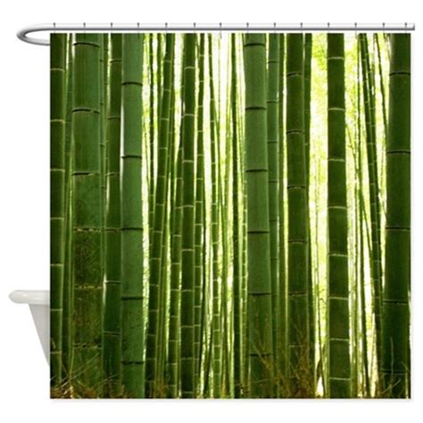 bamboo grove 2 shower curtain by trenditextures
