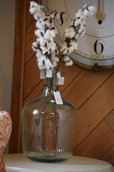 cotton branch decoration  clear vase springtime decor