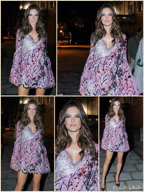 Alessandra Looked Stunning In A Lavender Long Sleeve Adorned With Orange Flowers And Tree