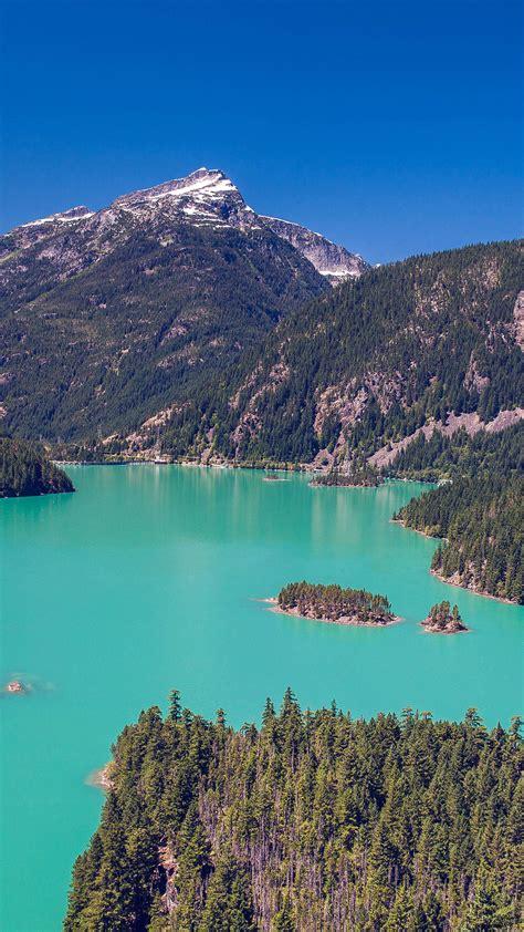 ml lake water mountain view nature papersco