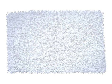 tapis de bain 50x80 cm shaggy coloris blanc conforama