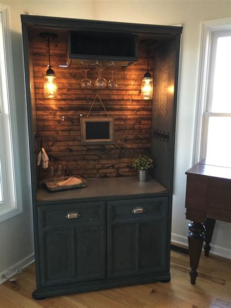 Diy Bar Furniture by Sold Armoire Bar Cabinet Coffee Bar Station Bar