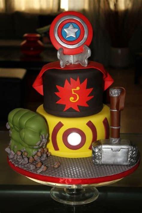 avengers birthday cake  light installed   cake