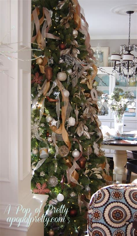 how to add ribbon to a tree part two a pop of pretty