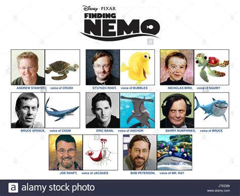 Voice Cast With Characters Finding Nemo (2003 Stock Photo