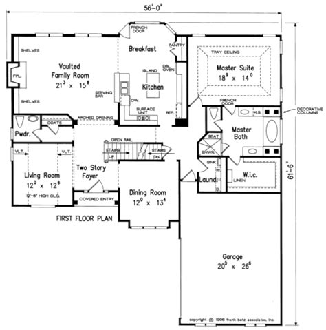 Frank Betz Summerlake Floor Plan by Burnside House Floor Plan Frank Betz Associates