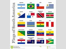 Flags Of South America Royalty Free Stock Image Image