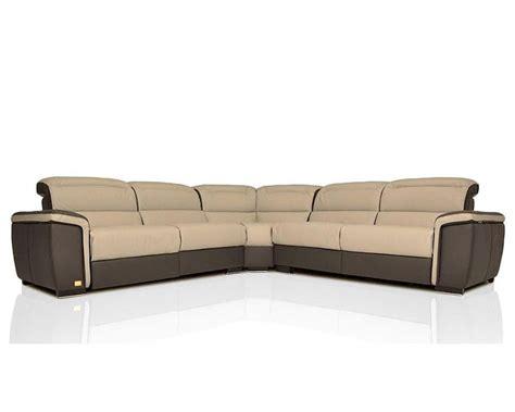 modern italian leather sofa modern full italian leather sectional sofa w recliners