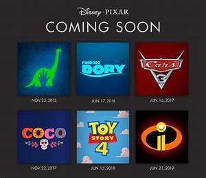 Disney Pixar announces movie release dates through 2019